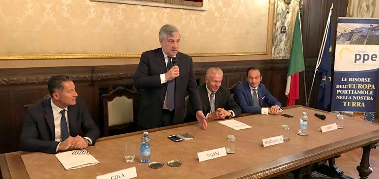 Antonio Tajani a Cuneo: crediamo di più nell'Europa per migliorare tutti