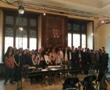 Alba, accolti in Municipio alcuni studenti di Avignone
