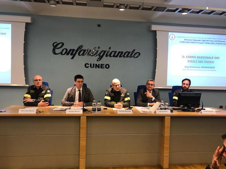 Confartigianato Cuneo e Vigili del fuoco insieme per un incontro sulla sicurezza