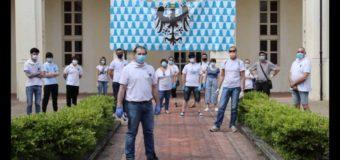 Asti, i volontari di Borghi e Rioni e delle associazioni hanno distribuito le mascherine in città