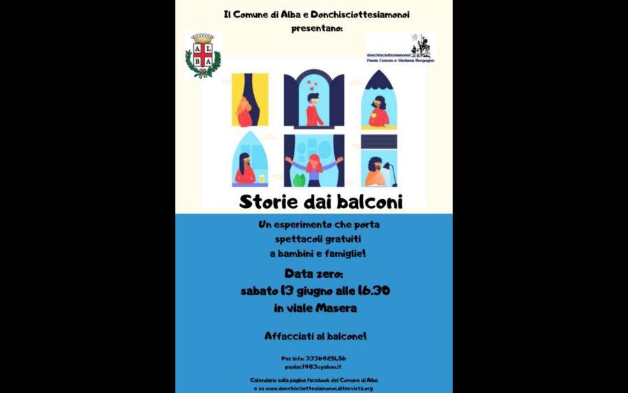 Alba, spettacoli all'aperto per famiglie da gustare dai balconi
