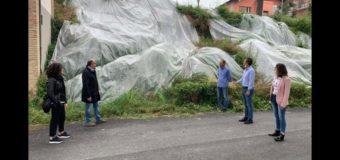 Costigliole D'Asti, sopralluogo dell'assessore regionale Gabusi alla frana dello scorso novembre