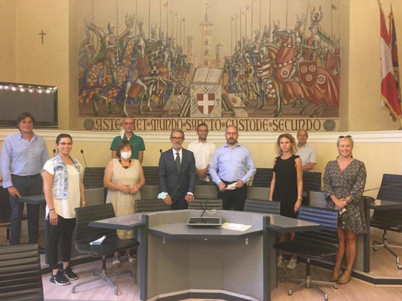 Asti, la Giunta comunale ha incontrato il nuovo Questore della città