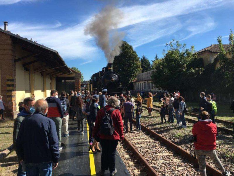E' tornato il treno storico fra Asti, Castagnole Lanze, Canelli e Nizza Monferrato