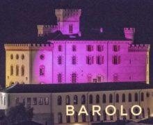Barolo, anche il castello Falletti in rosa per la prevenzione dei tumori al seno