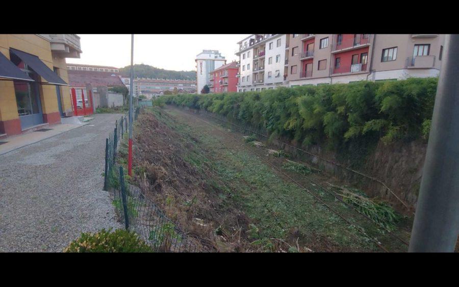 Alba, completata la pulizia del sedime ferroviario in città
