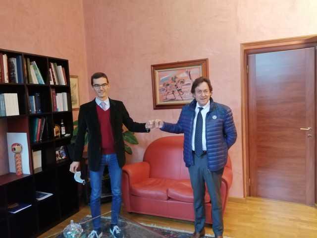 Asti, il presidente della Provincia Lanfranco ha incontrato il neo presidente della Camera di Commercio Coscia