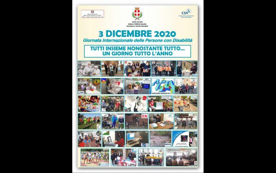 Asti, per la Giornata delle persone con disabilità un video presenta l'impegno di tanti in questo campo