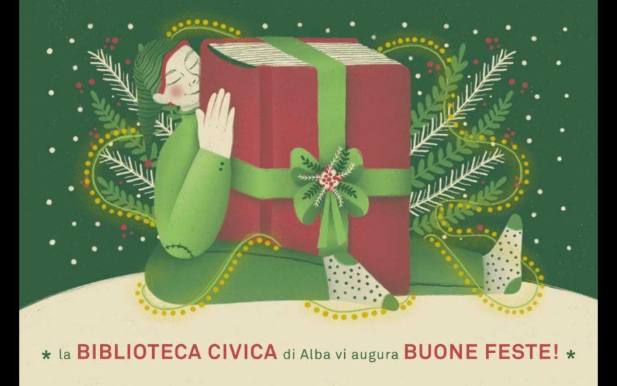 Alba, la Biblioteca augura ai bambini Buon Natale con una speciale cartolina