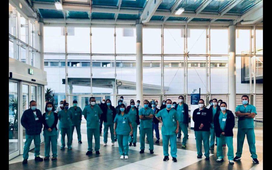 Delegazione medica israeliana in servizio al reparto Covid dell'ospedale di Verduno