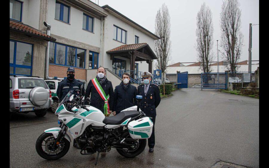 Asti, nuova moto per la Polizia municipale