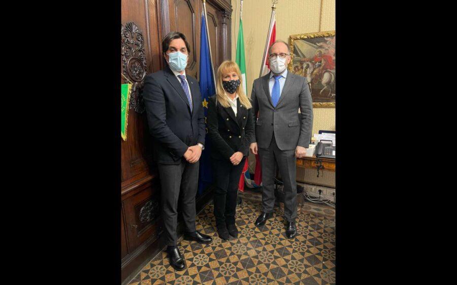 Asti, ricevuta in municipio Lavinia Saracco, delegata del Coni