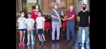 Asti, la Virtus Scherma Asti ricevuta in Municipio dal sindaco Rasero