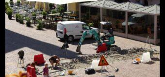 Alba, iniziata la manutenzione del porfido nel centro storico