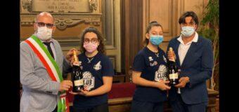 Asti, ricevute in Comune le giovani campionesse dell'Asti volley