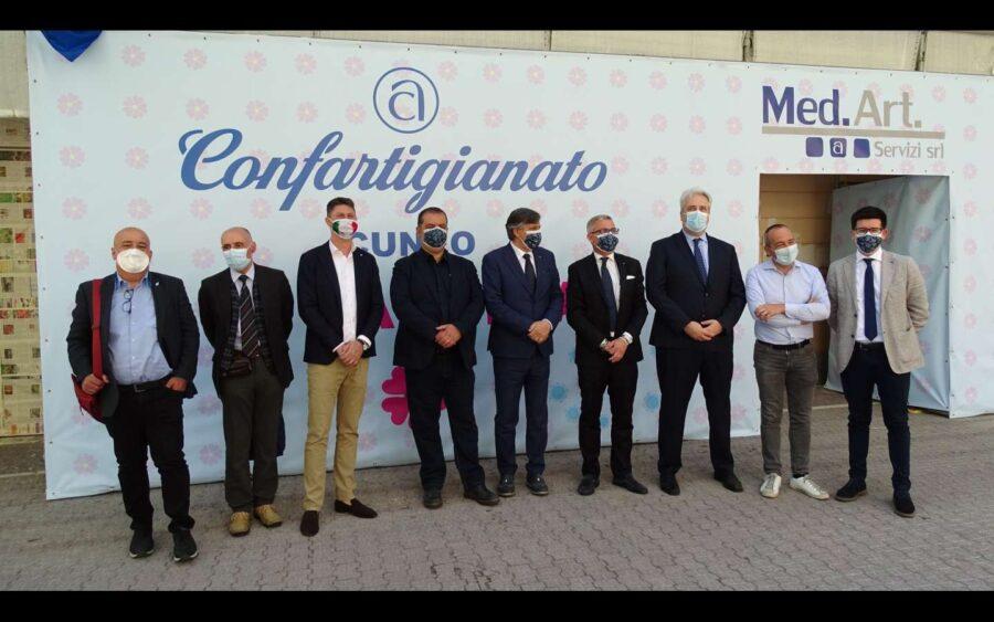 Confartigianato Cuneo, inaugurato il nuovo hub vaccinale dell'associazione