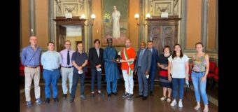 Asti, visita in municipio dell'ambasciatore nigeriano Paul Oga Adikwu